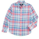 Vineyard Vines Toddler Boy's Bridgehampton Plaid Beach Shirt