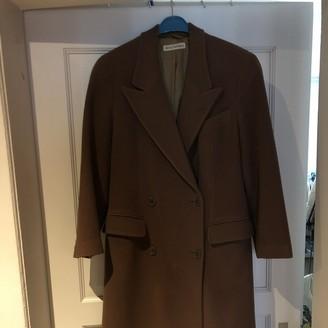 Emporio Armani Brown Wool Coat for Women Vintage