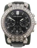 Harry Winston Premier 200mc037w Leather Strap 37mm Mens Watch