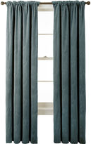 Asstd National Brand Bliss Velvet Embroidered Back-Tab Curtain Panel