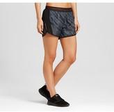 Champion Women's Fashion Run Shorts Dark Gray/Diagonal Dots Print