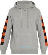 Off-White Checkered-motif cotton hooded sweatshirt