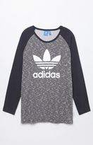 adidas Trefoil Light Grey Long Sleeve Raglan T-Shirt