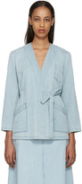 MM6 MAISON MARGIELA Blue Denim Tie Jacket