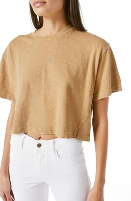 Frame Slit Hem Boxy Organic Pima Cotton Crop T-Shirt