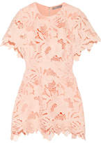 Lela Rose Guipure Lace Top - Peach