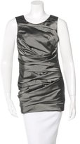 Vera Wang Gathered Sleeveless Top