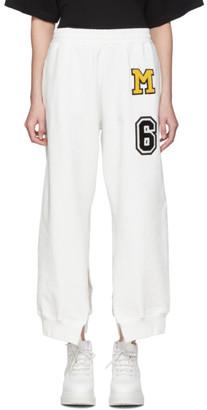 MM6 MAISON MARGIELA White Split Seam Lounge Pants