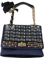 Lanvin Medium Satin Metallic Embroidered Bag