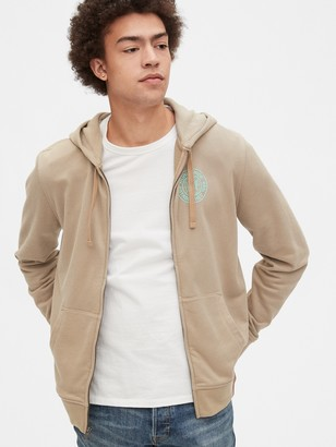 Gap Graphic Full-Zip Hoodie in French Terry