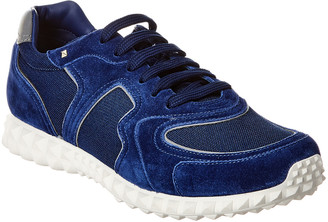 Valentino Suede-Trim Sneaker