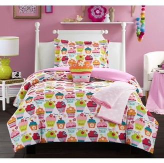 """Chic Home Honey Muffin 4 Piece Comforter Set """"Sweet Dreams"""" Theme Print"""
