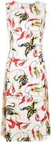Fausto Puglisi printed side slit dress