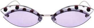 Cat Eye Fendi Eyewear Spotted Sunglasses