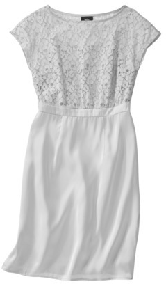 Mossimo Women's Lace Overlay Bodice Dress - Assorted Colors