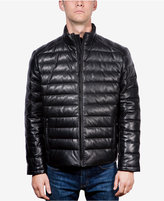 Boston Harbour Men's Packable Leather Puffer Jacket