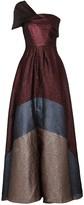 Roland Mouret Savannah panelled lame-jacquard gown