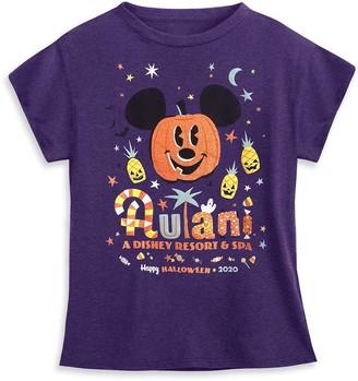 Disney Mickey Mouse Pumpkin T-Shirt for Girls Aulani, A Resort & Spa