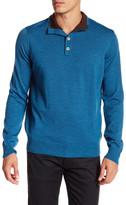 Thomas Dean Mock Neck Button Wool Sweater