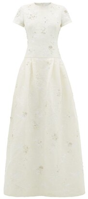 Erdem Alphonse Crystal-embellished Chantilly-lace Dress - Womens - Ivory