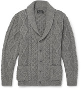 Howlin' Shawl-Collar Cable-Knit Wool Cardigan