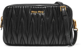 Miu Miu Small Matelassé Leather Camera Bag - Black