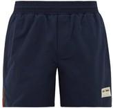 Gucci Web-stripe High-cut Swim Shorts - Mens - Blue