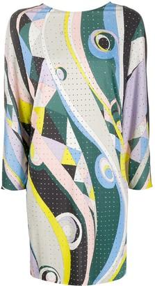 Emilio Pucci Abstract Print Mini Dress