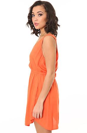 Alternative Apparel The Soledad Waist Dress in Mimosa Pink