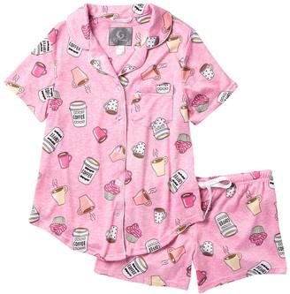 Pj Couture Cozy Lux Patterned 2-Piece Pajama Set