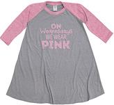 Urban Smalls Gray & Pink 'On Wednesdays' Raglan Dress - Toddler & Girls