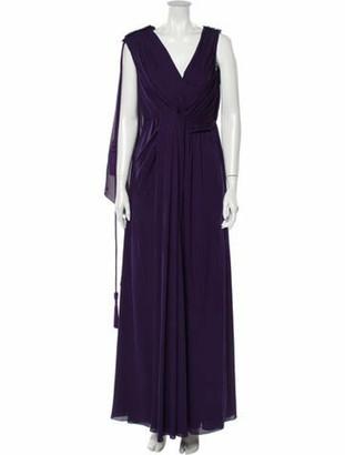 Lanvin Silk Long Dress w/ Tags Purple