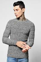 Boohoo Block Crew Neck Twisted Knit Jumper
