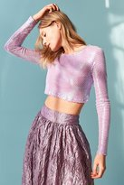 Out From Under Party Mesh Long Sleeve Top