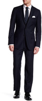 Hickey Freeman Navy Two Button Notch Lapel Wool Classic Fit Suit