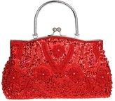 MNBS Womens Classic Evening Wedding Party Handbag Clutch Bag Vintage Flowers Handbag