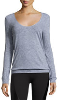 Lanston Back-Drape Pullover, Medium Gray
