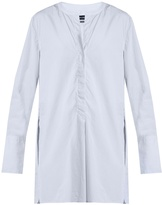 Isabel Marant Louis collarless striped cotton shirt