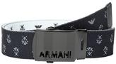 Armani Junior Fabric Belt with Logo Buckle Boy's Belts
