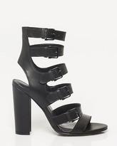 Le Château Leather Block Heel Gladiator Sandal