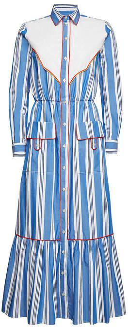 Stella Jean Striped Cotton Maxi Dress