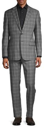 Armani Collezioni Standard-Fit Plaid Wool Suit