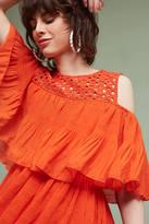 Eva Franco Fiesta Open-Shoulder Mini Dress