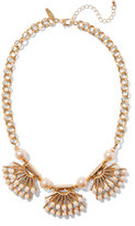 New York & Co. Beaded Fan Pendant Necklace