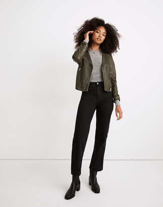 Madewell Petite Slim Wide-Leg Jeans in Lunar Wash