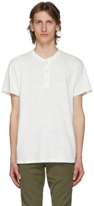 Rag & Bone White Cotton Short Sleeve Henley