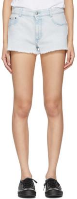 Stella McCartney Blue Denim Cut-Off Shorts