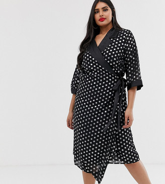 Koko spot wrap dress