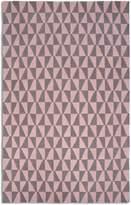 House of Fraser Plantation Rug Co. Geometric 100 Wool Rug - 150x230 PinkGrey