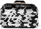 Jimmy Choo Cloud Paillette-embellished Metal Clutch